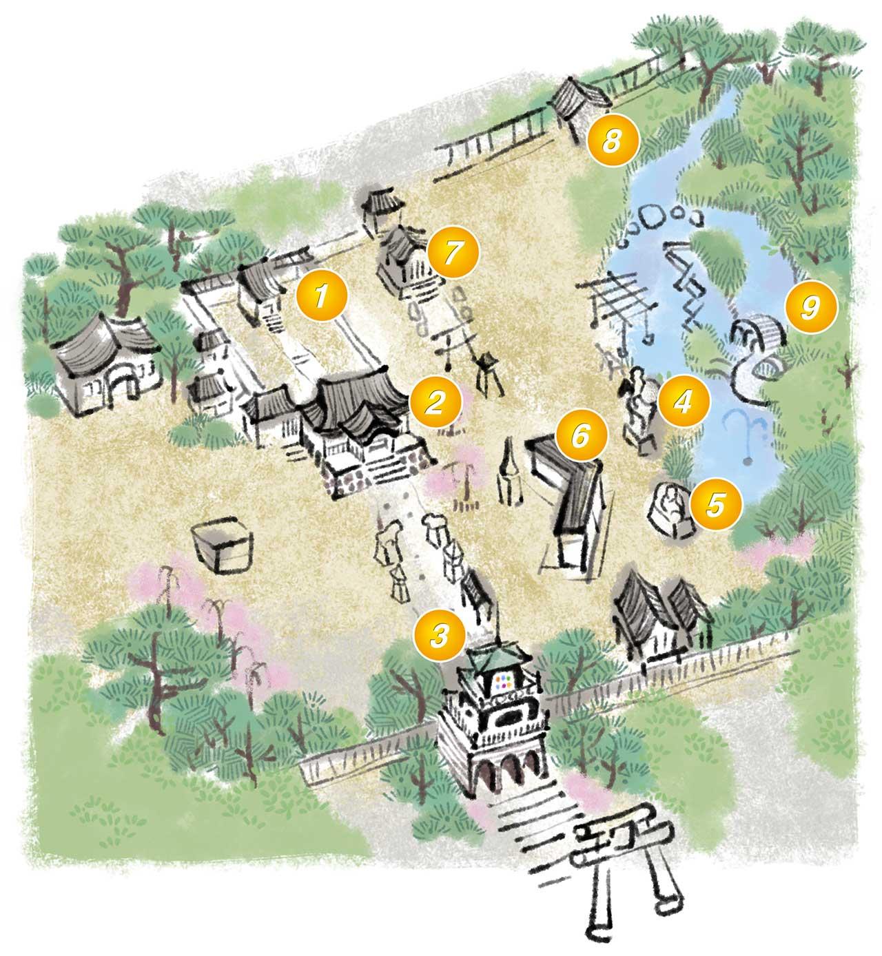 尾山神社 境内マップ